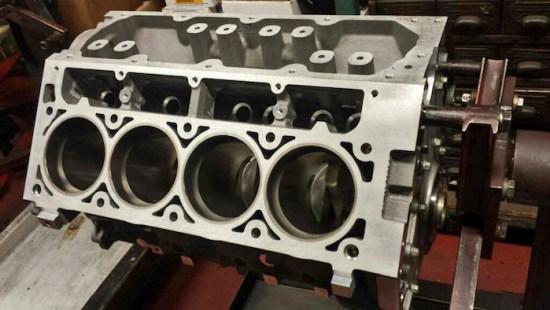 The foundation of the boosted LS build, is an OEM GM LS2 aluminum block. Typically found in '05-07 Corvette, '06-07 CTS-V, and '05-06 GTO, among a few others,