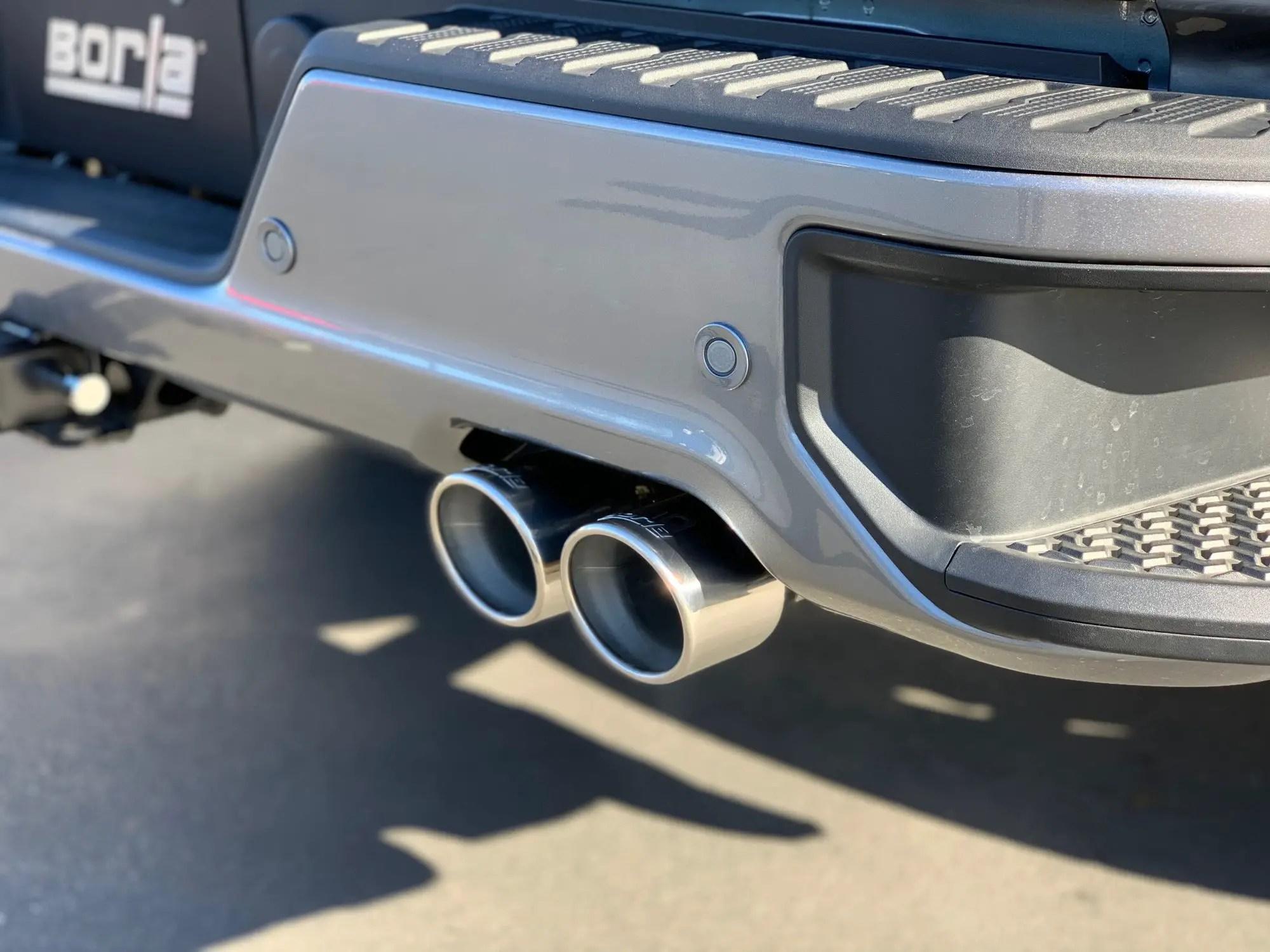borla quad tip exhaust for the sierra