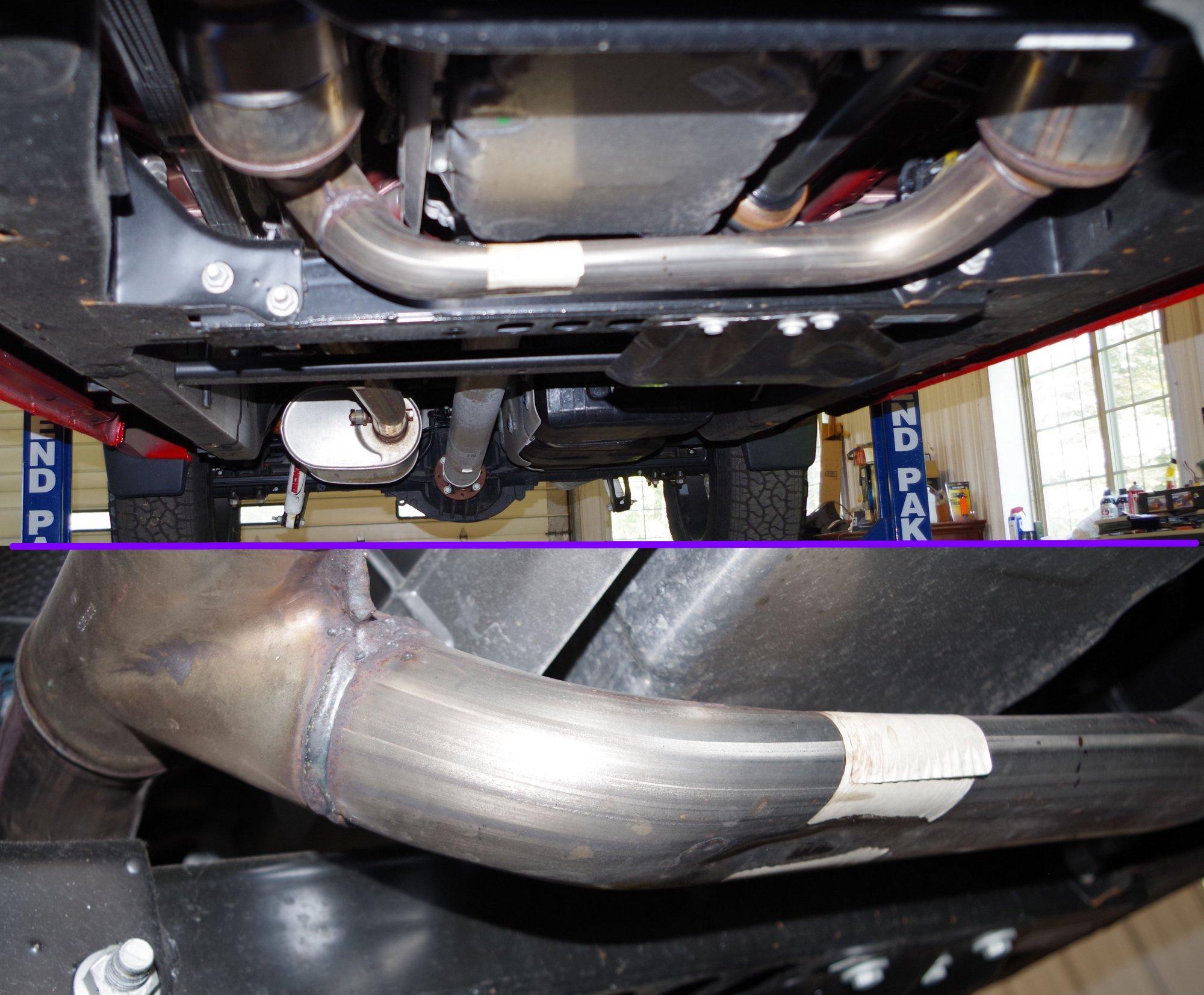 5 3 squashed y pipe 2019 2021 engine
