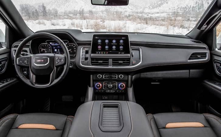 The revised interior of the 2022 GMC Yukon Denali will be similar