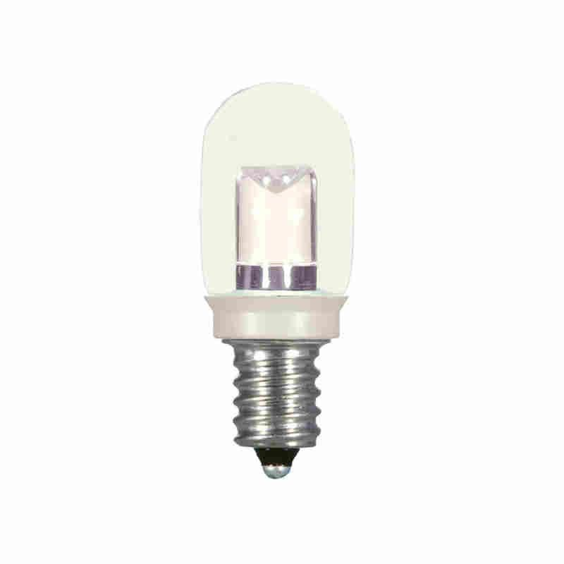 satco s9177 non dimmable led specialty lamp 0 8 w e12 candelabra led lamp t6 20 lumens initial