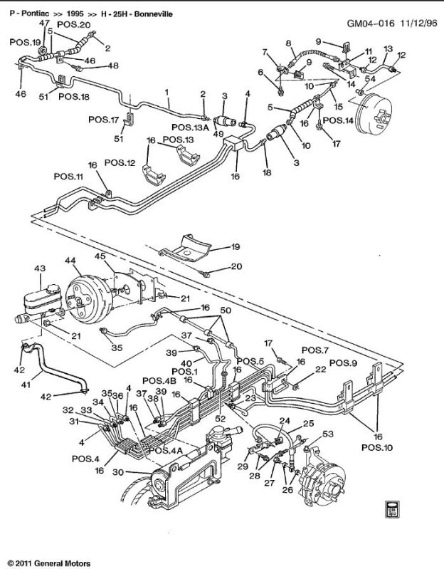 2003 Buick Rendezvous Brake Line Diagram