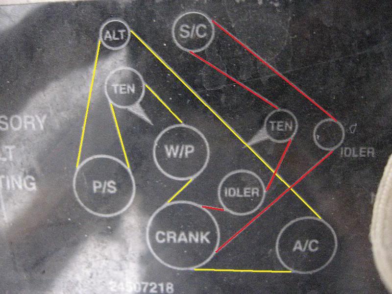 Series II SC belt diagram  GM Forum  Buick, Cadillac, Olds, GMC & Pontiac chat