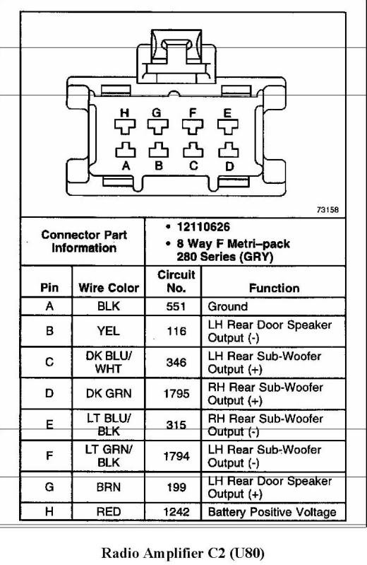 2000 ssei bose amp wiring diagram  GM Forum  Buick