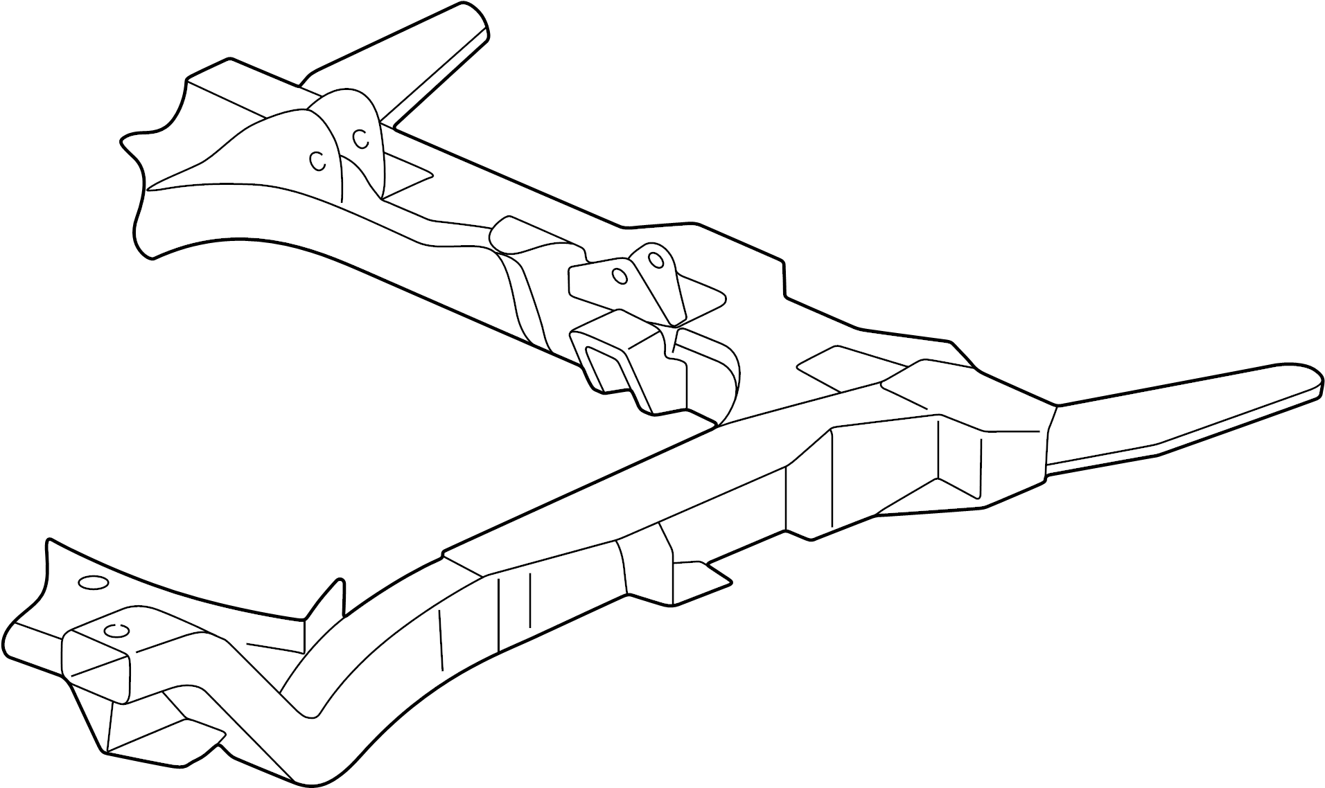 Oldsmobile Alero Crossmember Engine Cradle Frame