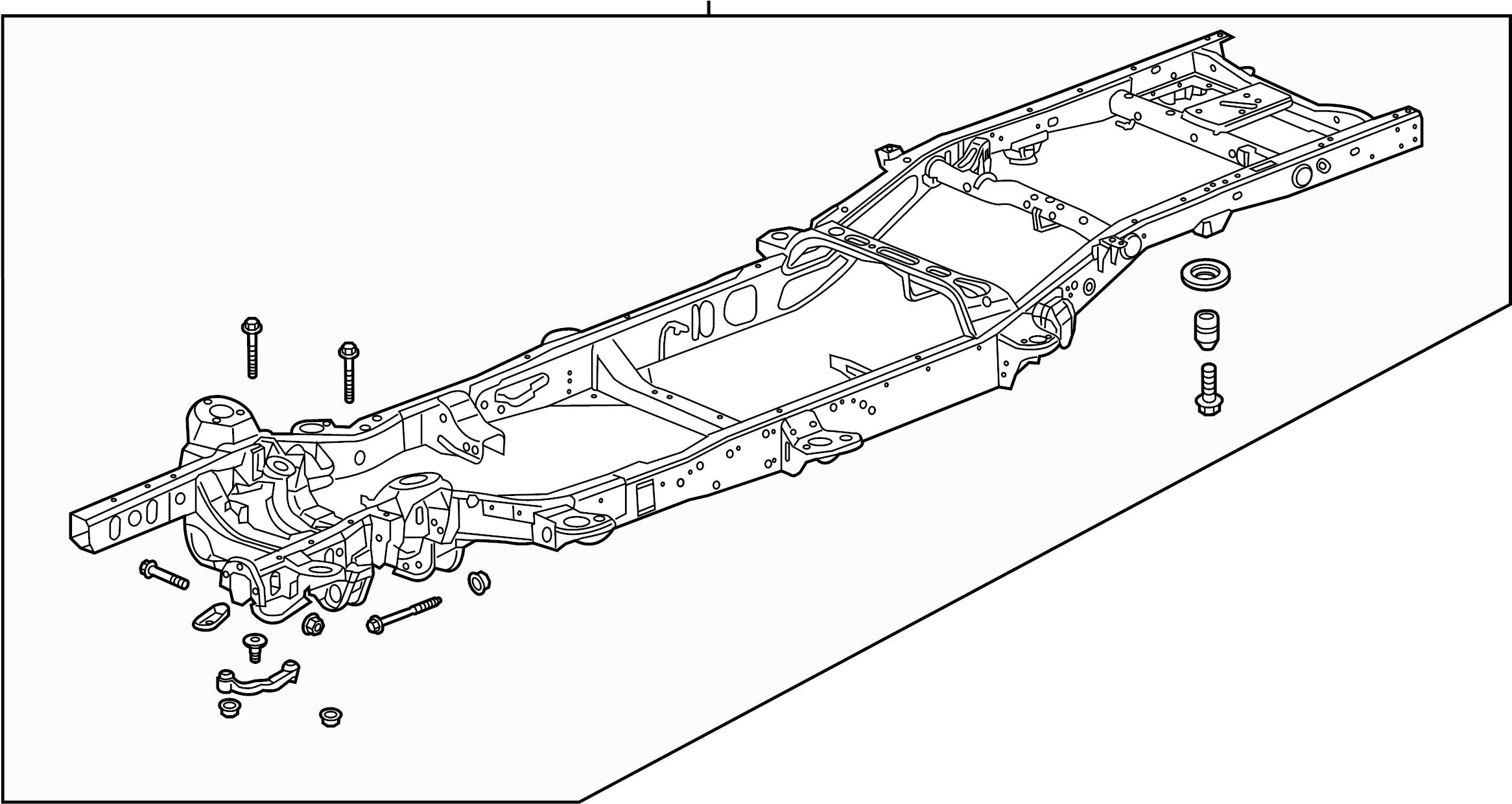 Chevrolet Silverado Frame Assy Frame Rail