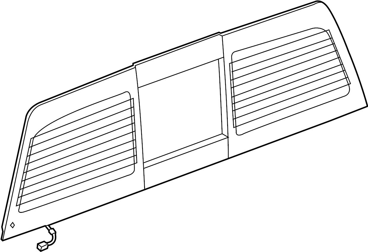 Gmc Sierra Back Glass Rear Nags W Power W Rear Defogger Sliding Glass Chevrolet