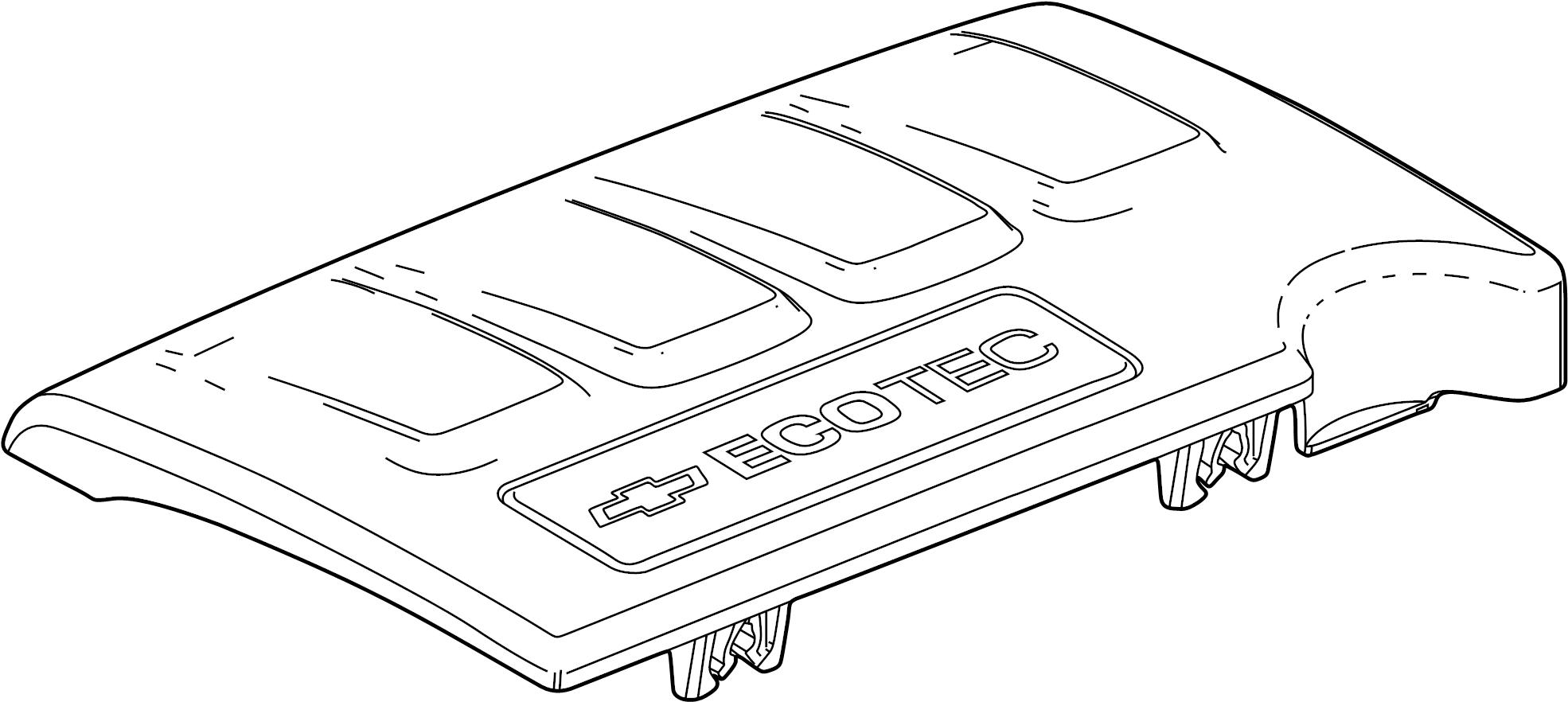 Chevrolet Cruze Emblem Engine Cover 1 4 Liter Turbo