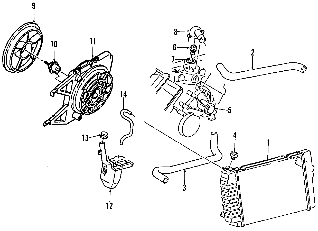 Oldsmobile Silhouette Thermostat Gasket Seal Engine