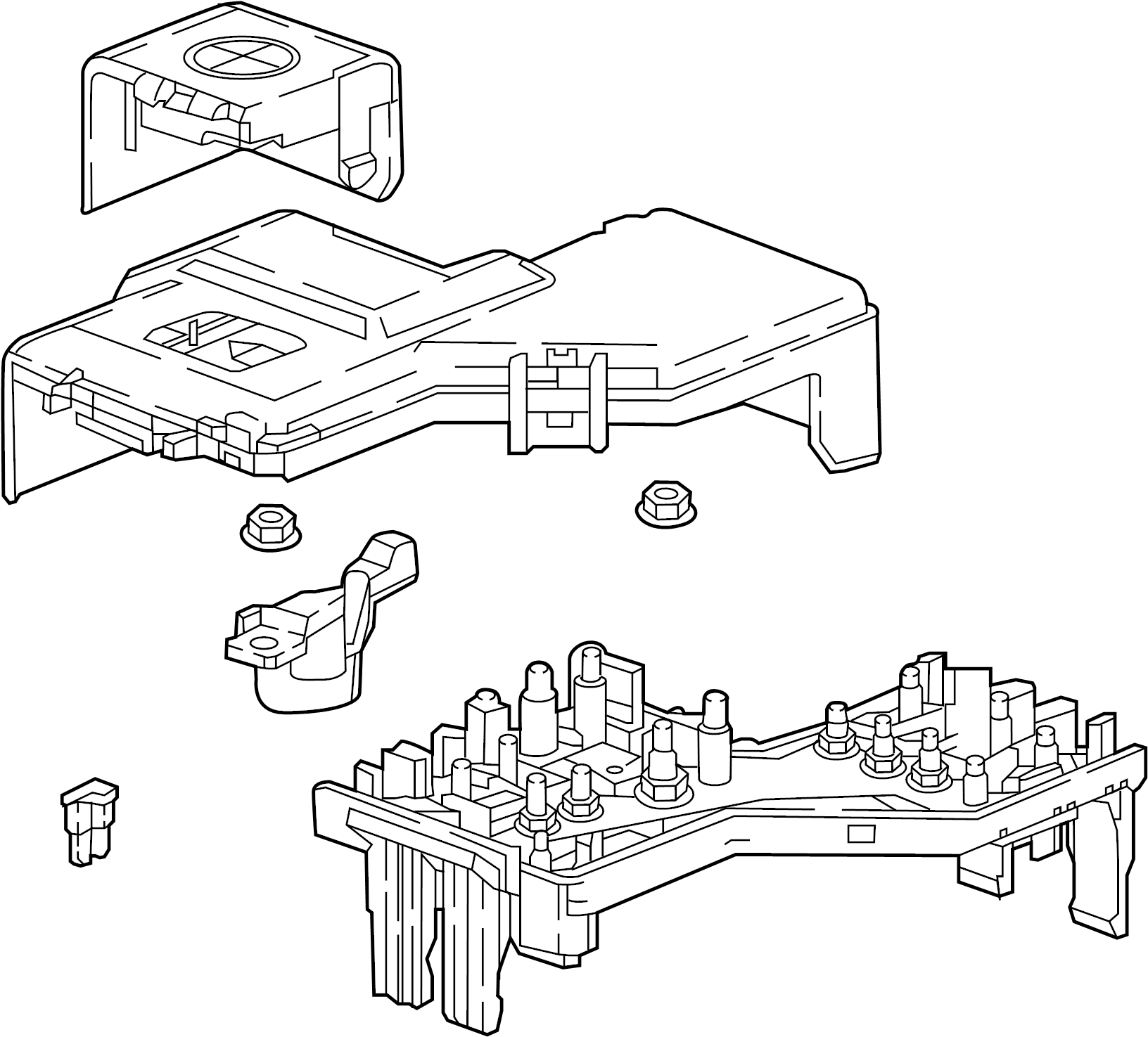 Gmc Acadia Relay Fuse Block And Center Junction Under