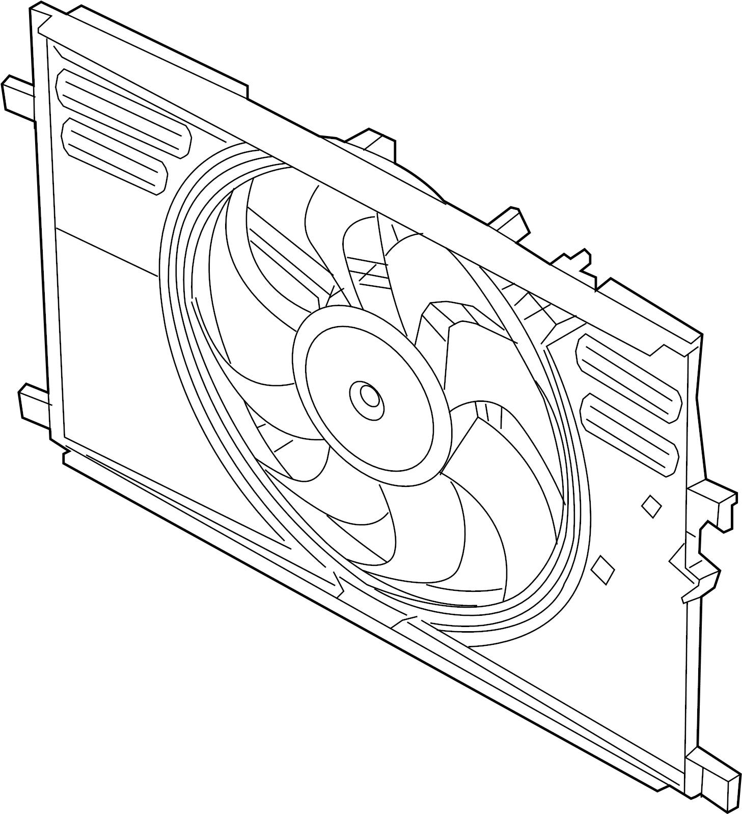 Chevrolet Traverse Engine Cooling Fan Assembly Radiator