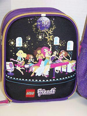 84722c04d5 Lego – Friends 16″ Backpack & Lunch Box Set – Purple & Black – New ...