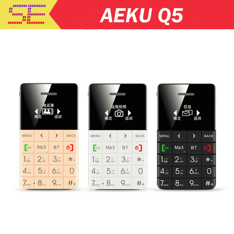 975fbc53807 AIEK QMART Q5 M5 Card Mobile Phone 5.5mm Ultra Thin Pocket Mini ...