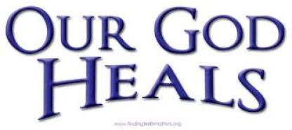God heals spiritually,