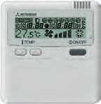 mitsubishi ducted air conditioning wall controller