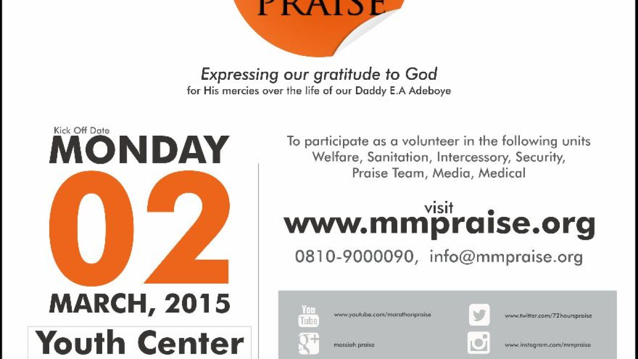 RCCG National Youth Affairs release Artwork for 73 Hours
