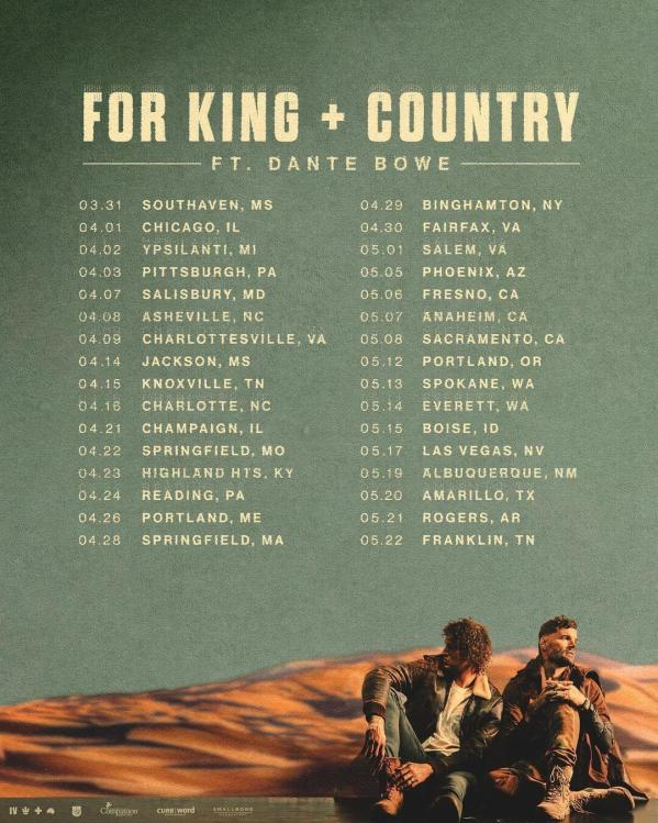 For King & Country - What Are We Waiting For - 2022 Tour Dates