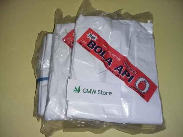 Kantong Plastik Kresrek Putih Kecil HDPE Size 15x0125x34 Kode G135