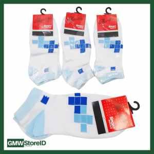 W404 Kaos Kaki Olahraga Wanita Tipe E03 - Women Sport Socks Motif
