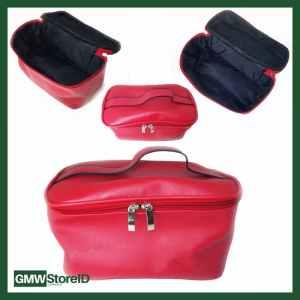 Tas Kosmetik Merah Tebal Serbaguna Ada Risleting 24x13x13 cm W367