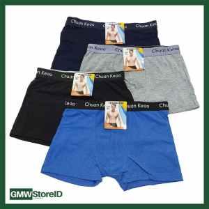 W628 Boxer Celana Dalam Pria Laki Motif Warna Cowok Random Tipe I06