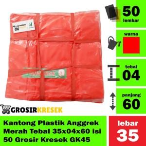 Kantong Plastik Anggrek Merah Tebal 35x04x60 isi 50 Grosir Kresek GK45