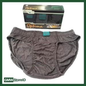 Sempak Celana Dalam Pria CD underwear Laki laki Optima Uk Size L W112