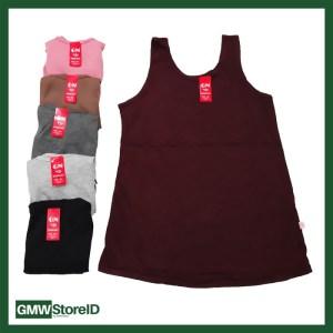 W432 Singlet Wanita Kaos Dalam Cewek GN Size XXL - Halus Polos Warna