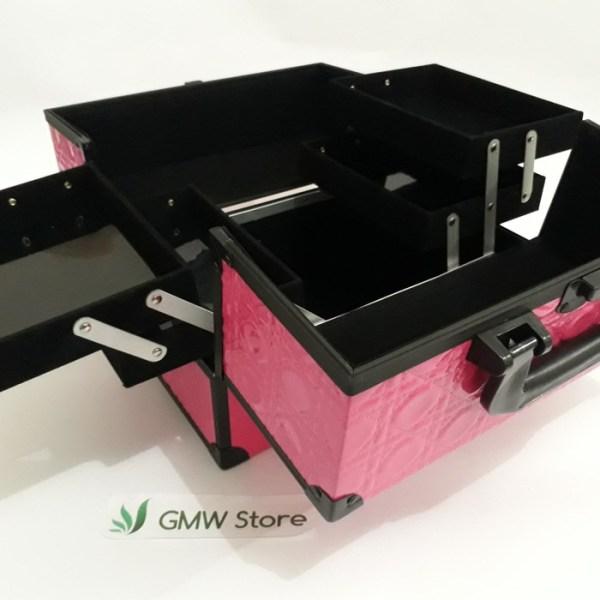 Beauty Case Kotak Make Up Besar Ellegant Pink Atau Hitam 601 W142