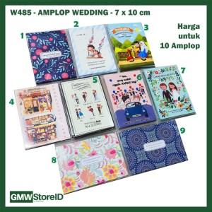 W485 isi 10 Amplop Wedding Size Kecil Printing Angpao Pernikahan Motif