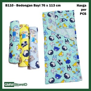 B110 Bedong Bayi 76x113cm Warna Motif Lucu Kain Katun Selimut Baby SNI