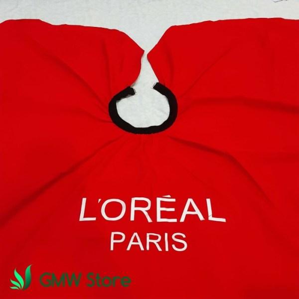 Kep Potong Rambut Salon Loreal Paris Jas Cukur Merah Polos Tebal C212