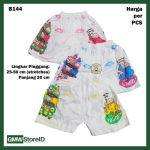 B144 Celana Pendek Bayi Unisex Gambar Kartun Warna Baby Shorts SNI