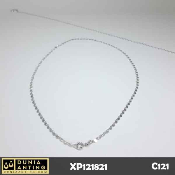 C121 Kalung Rantai Silver Model Mini Necklaces Platinum Imitasi