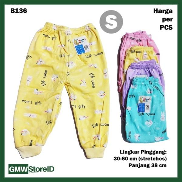 B136 Celana Panjang Bayi Size S Baby Warna Motif Lucu Unisex Murah SNI