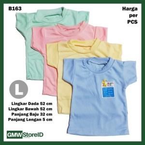 B163 Kaos Oblong Bayi Size L Halus Baju Cowok Cewek Warna Unisex SNI