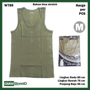 Singlet Hijau Army Pria Kaos Dalam Cowok Laki-Laki Green Agree Men F35