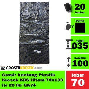 Grosir Kantong Plastik Kresek Sampah KBS Hitam 70x100 isi 20 lbr GK74