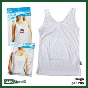 Singlet Wanita Putih Polos Kaos Dalam Perempuan Women GN Murah F60