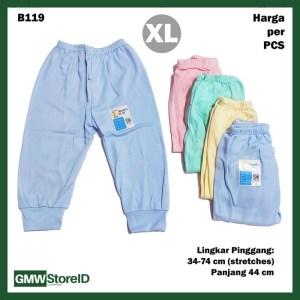 B119 Celana Panjang Bayi XL Katun Warna Baby Clothes Lembut Nyaman SNI