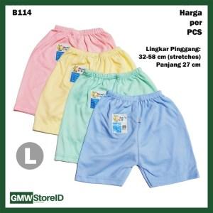 B114 Celana Pendek Bayi L Katun Warna Baby Clothes Lembut Nyaman SNI