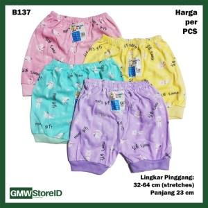 B137 Celana Pendek Bayi Warna Motif Unisex Allsize Good Baby Short SNI