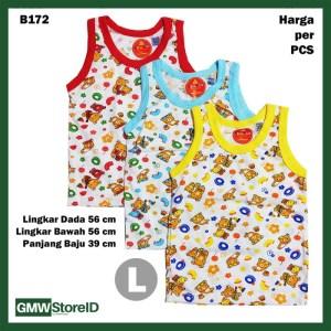 B172 Baju Buntung Bayi Cowok L Singlet Laki Brown Bear Baby Agree SNI