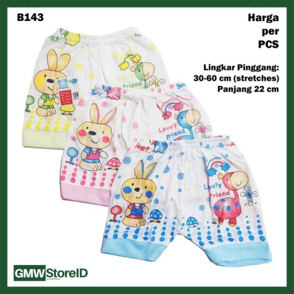 B143 Celana Pendek Bayi Motif Gambar Lucu Warna Baby Short Unisex SNI
