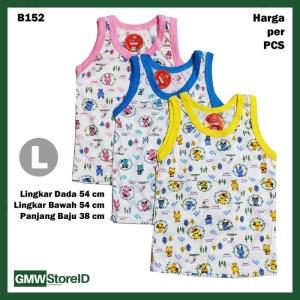 B152 Baju Buntung Bayi Singlet L Kutungan Motif Putih Warna Baby SNI
