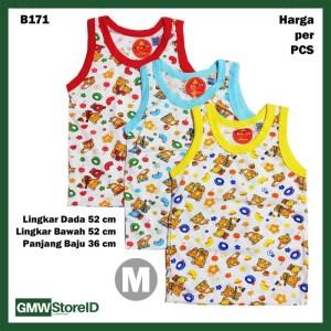 B171 Baju Buntung Bayi Cowok M Singlet Laki Brown Bear Baby Agree SNI