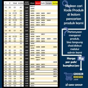 GL30 Grosir Kantong Kresek Lorek Hitam Putih MELON 32x55x02 40 lembar