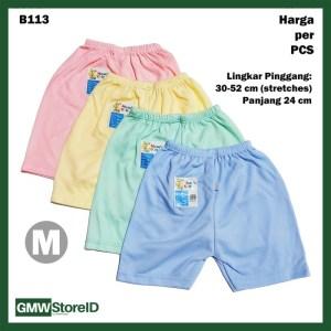 B113 Celana Pendek Bayi M Katun Warna Baby Clothes Lembut Nyaman SNI