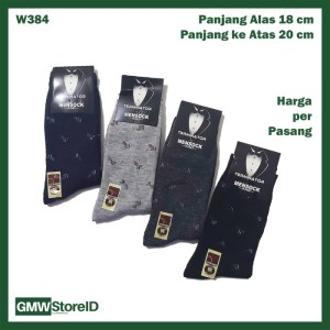 W384 Kaos Kaki Kerja Formal Dewasa Pria Tipe A02 - Men Socks Tebal