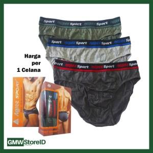Celana Dalam Pria Agree Sport CD Laki-Laki Halus Pinggang Karet F59